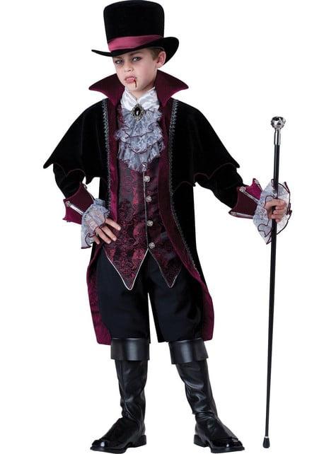 Fato de vampiro de Versalhes Elite para menino
