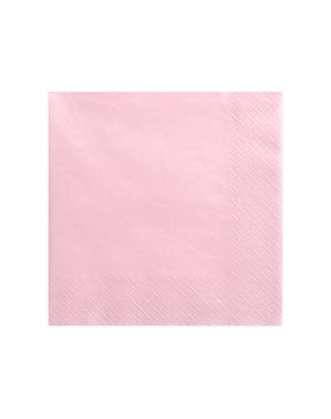 20 Pastel Pink Paper Napkins (40x40 cm)