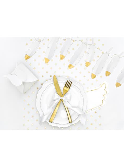 20 servilletas con forma de ala blanca de papel (32x20 cm) - Little Plane - para tus fiestas