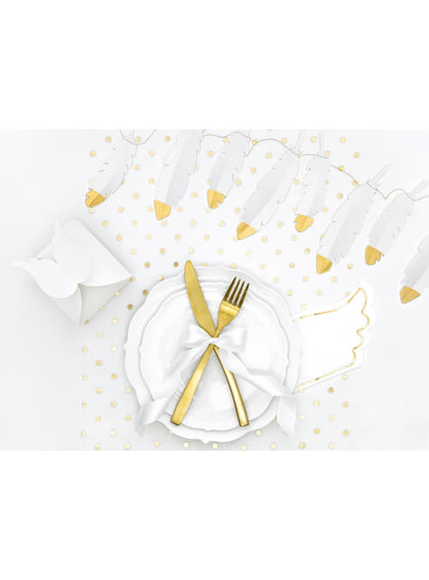 20 Wing-Shaped Paper Napkins, Whit (32x20 cm) - Little Plane