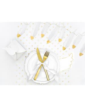 Набор от 20 хартиени салфетки с крило, бяло - малка равнина
