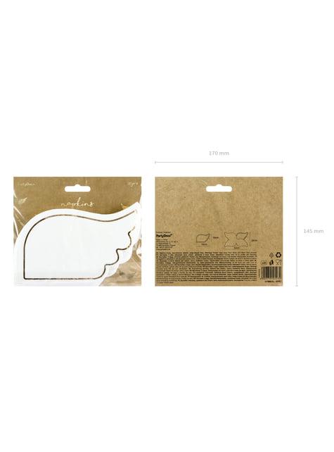 20 servilletas con forma de ala blanca de papel (32x20 cm) - Little Plane - barato