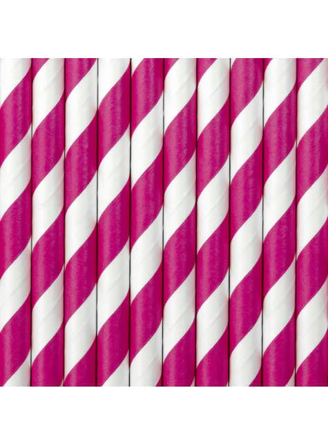 10 kuuman pinkkiä paperipilliä - Princess Party