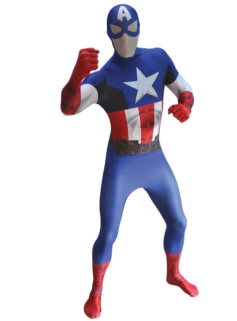 Kapteeni Amerikka Klassinen Morphsuit -asu