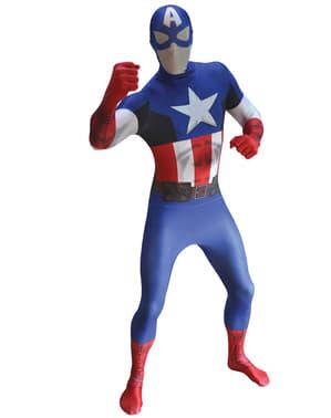 Disfraz de Capitán América Morphsuit