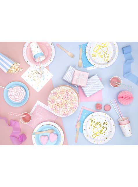 10 pajitas rosas pastel de papel - Unicorn