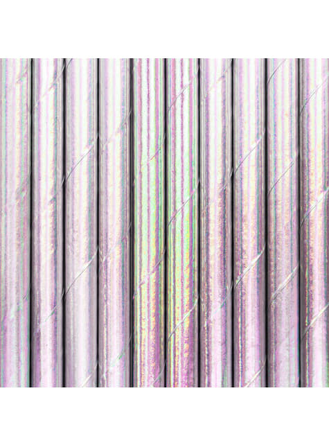 10 Iridescent Paper Straws - Iridescent