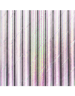 10 cannucce iridescenti di carta - Iridescent