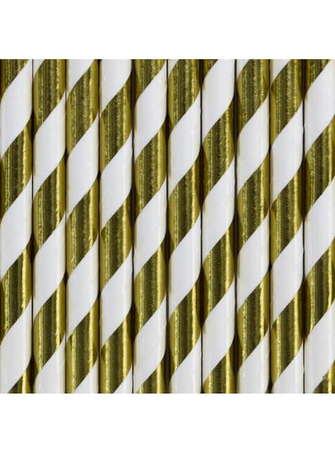 10 paperipilliä kultaraidoin - Trick or Treat Collection