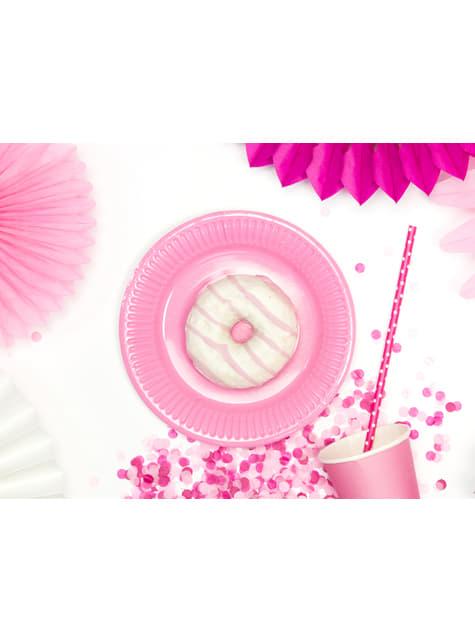 10 pinkkiä paperipilliä täplillä - Polka Dots Collection