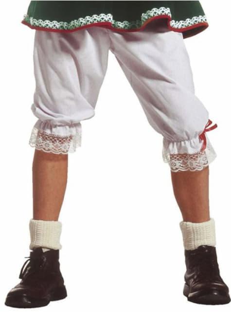 Calzones blancos con puntilla