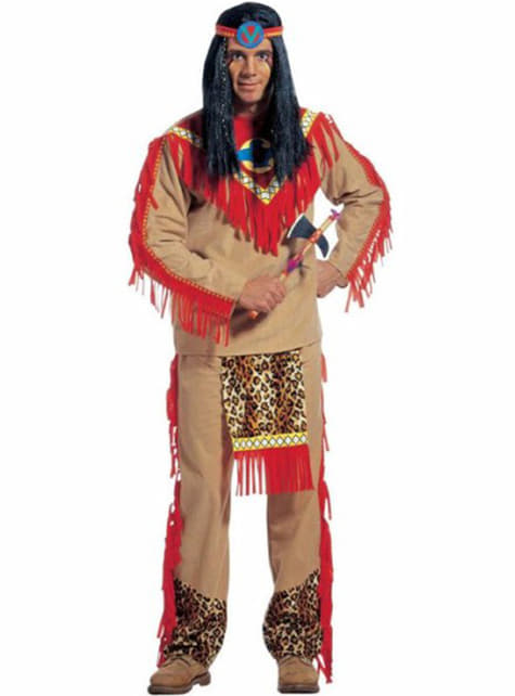 Furious Leopard Indian costume for a man