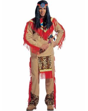 Мъжки леопардов костюм на гневен индианец