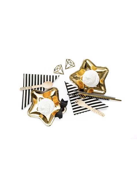 10 pailles dorées en papier - New Year & Carnival