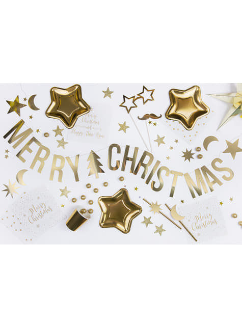 10 pajitas doradas de papel - New Year & Carnival