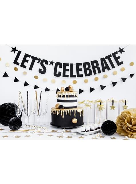 10 pajitas blancas con estrella doradas de papel para nochevieja - Happy New Year Collection - el más divertido