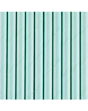 Strohhalm Set 10-teilig pastellblau - Basicfarben Collection