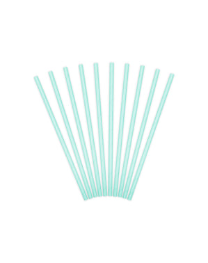 10 pasztell kék könyv Straws - irizáló