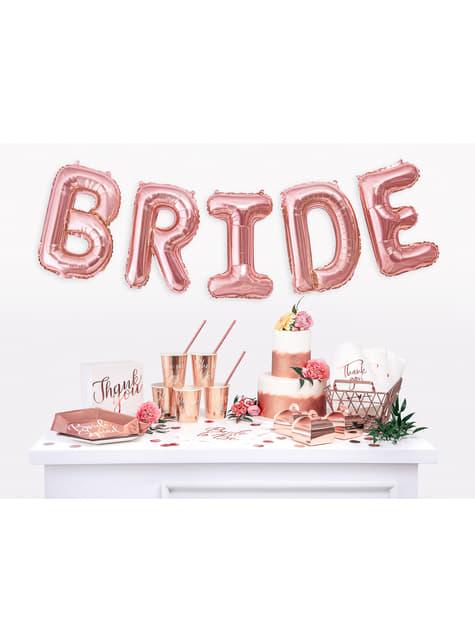 10 ruusunkultaista paperipilliä - Tropical Wedding