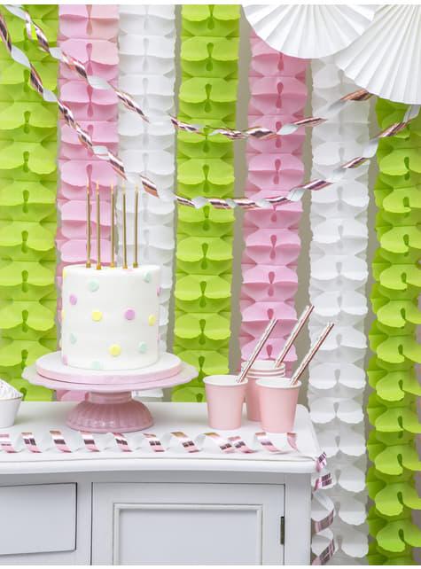 10 pailles rose gold en papier - Tropical Wedding