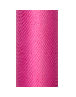 Roll of tulle in pink measuring 15cm x 9m