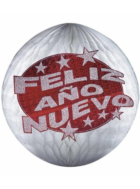 Globo feliz año nuevo 25 cm.