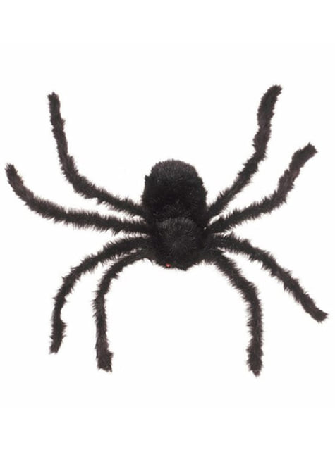 Sort edderkop 76 cm