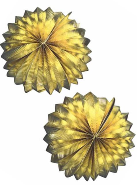 2 bolvormige lampionnen 25 cm