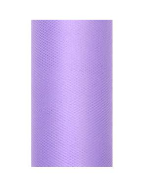 30cm x 9mの紫色のチュールのロール