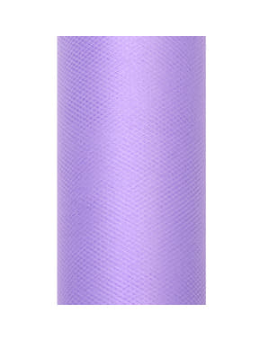 Roll of tulle in violet measuring 30cm x 9m