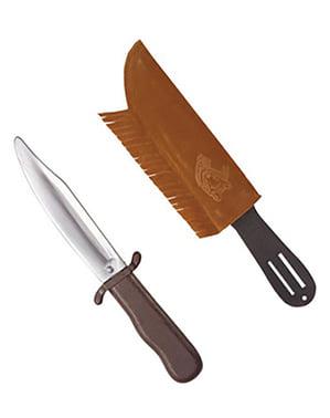 Couteau indien avec étui