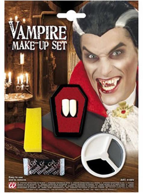 Ensemble de vampire maquillage et dents