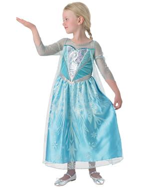 Costum Elsa Regatul de gheață (Frozen) Premium pentru fată