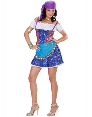 Blue gypsy costume for a woman