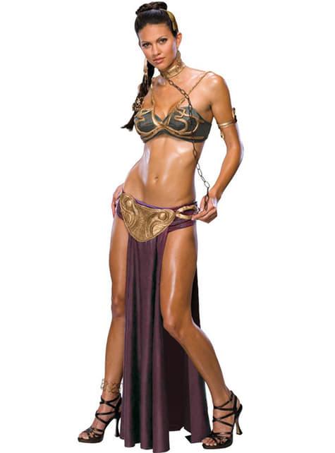 Sexy Slaaf Prinses Leia kostuum