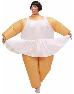 Fato de bailarina gorda insuflável para adulto