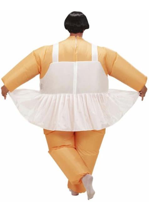 Disfraz de bailarina hinchable para hombre