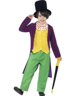 Costume da Willy Wonka Roald Dahl da bambino