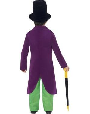 Fato de Willy Wonka Roald Dahl para menino