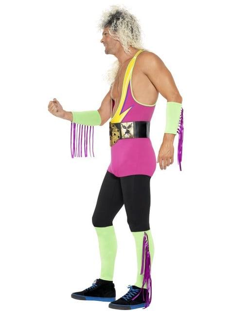 Disfraz de luchador retro para hombre - original
