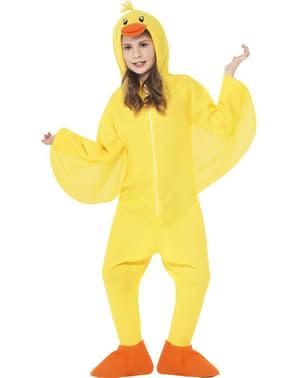 子供の黄色いアヒルの衣装