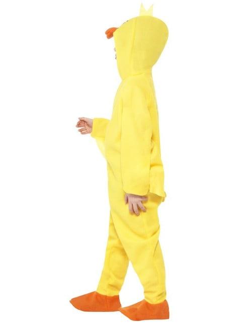 Déguisement de canard fêtard jaune pour enfant