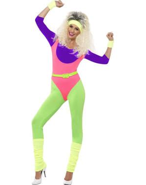 Dámský kostým gymnastka z 80. let