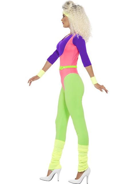 Disfraz gimnasta de los 80 para mujer