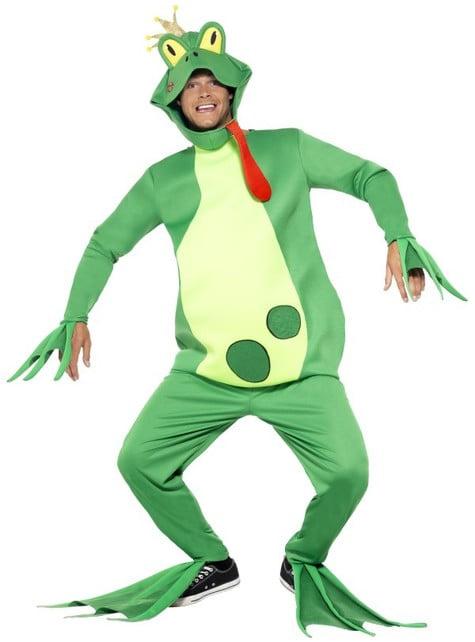 Disfraz de rey rana para hombre