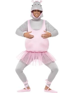 Costum de hipopotam dansator pentru adult