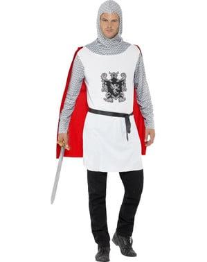 Miesten klassinen keskiaikainen ritari-asu