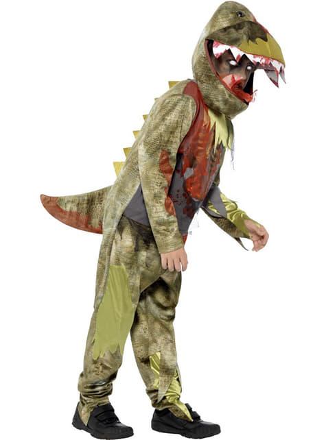 Fato dinossauro zombie para menino
