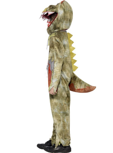 Disfraz dinosaurio zombie para niño
