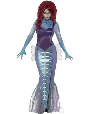 Zombie zeemeermin kostuum voor vrouw